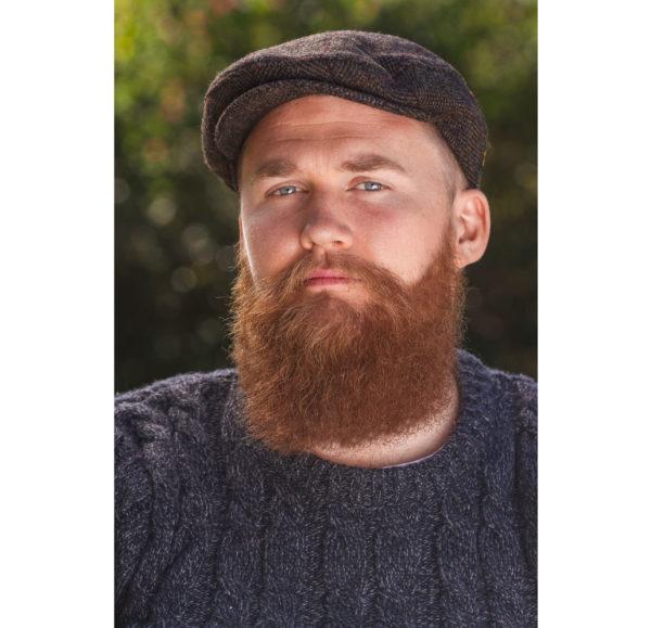Trinity  Herringbone Tweed Flat Cap by Aran Sweater Market – Beard ... 808098d2aa5